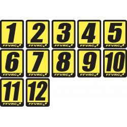 Numéros FFVRC 1/8 à l'unité